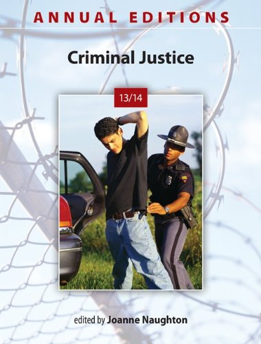 Criminal Justice 13/14:  37th 2013 9780078136092 Front Cover