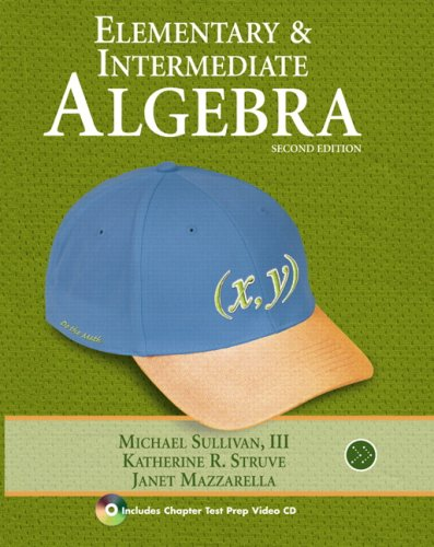 Elementary and Intermediate Algebra  2nd 2010 edition cover