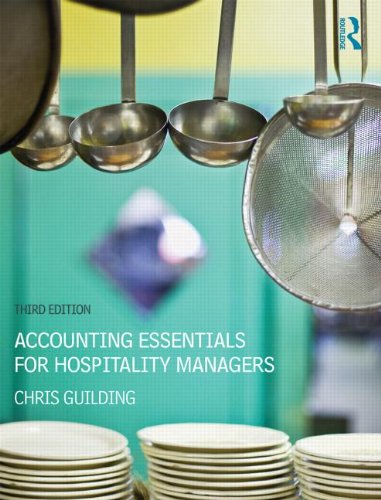 Accounting Essentials for Hospitality Managers  3rd 2014 (Revised) 9780415841092 Front Cover