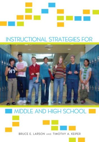 Instructional Strategies for Middle and High School   2013 edition cover