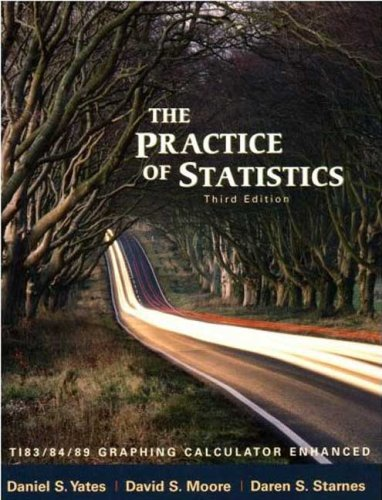 Practice of Statistics TI-83/84/89 Graphing Calculator Enhanced 3rd 2008 (Revised) edition cover