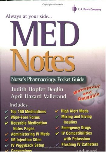 MedNotes Nurse's Pocket Pharmacology Guide  2004 (Revised) edition cover