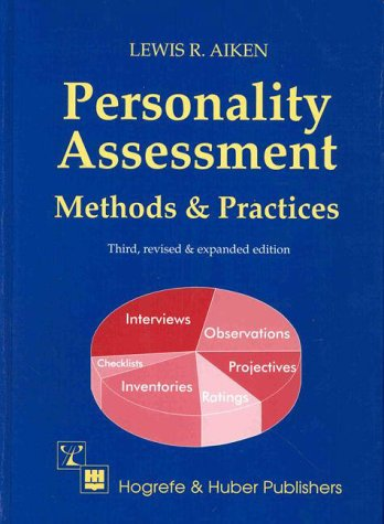 Personality Assessment Methods and Practices 3rd 1999 edition cover