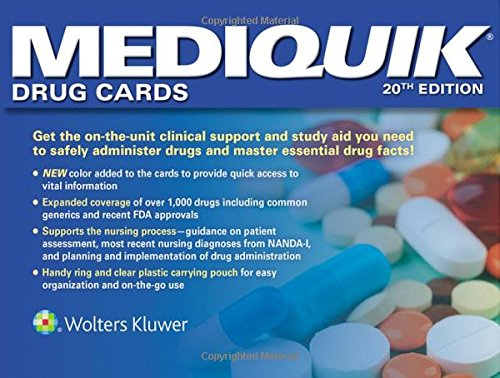 Drug Cards  20th 2016 (Revised) 9781496382092 Front Cover