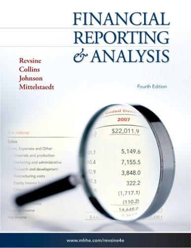 Financial Reporting and Analysis 4th 2009 edition cover
