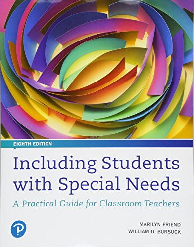 Including Students with Special Needs A Practical Guide for Classroom Teachers, Plus Mylab Education with Pearson EText -- Access Card Package 8th 2019 9780134754093 Front Cover