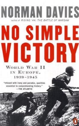 No Simple Victory World War II in Europe, 1939-1945  2008 edition cover