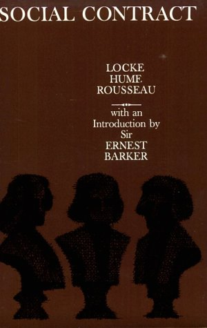 Social Contract Essays by Locke, Hume, and Rousseau  1978 edition cover
