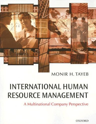 International Human Resource Management A Multinational Company Perspective  2005 9780199258093 Front Cover