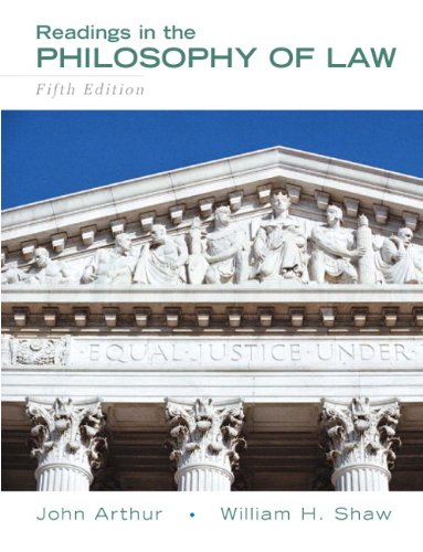 Readings in the Philosophy of Law  5th 2010 (Revised) edition cover