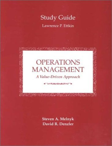 Operations Management Study Guide A Value-Driven Approach  1996 (Student Manual, Study Guide, etc.) 9780256230093 Front Cover