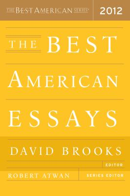 Best American Essays 2012   2012 9780547840093 Front Cover