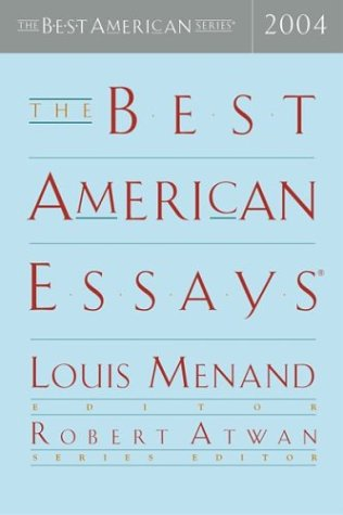 Best American Essays 2004   2004 edition cover