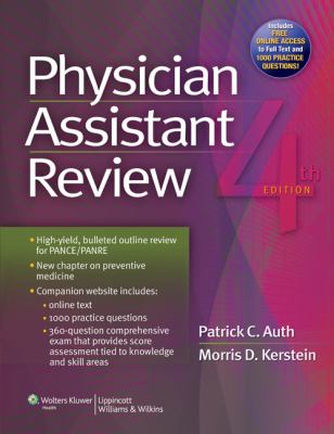 Physician Assistant Review  4th 2013 (Revised) edition cover