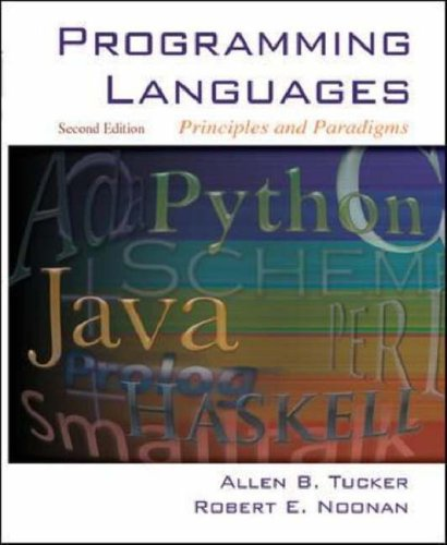 Programming Languages Principles and Paradigms 2nd 2007 (Revised) edition cover