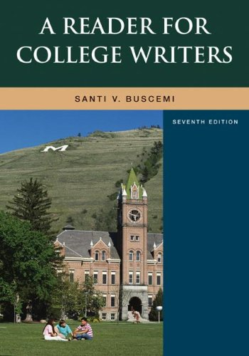 Reader for College Writers  7th 2008 edition cover