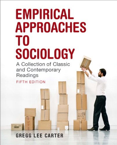 Empirical Approaches to Sociology A Collection of Classic and Contemporary Readings 5th 2010 edition cover