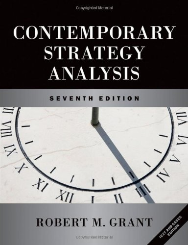 Contemporary Strategy Analysis and Cases  3rd 2010 edition cover