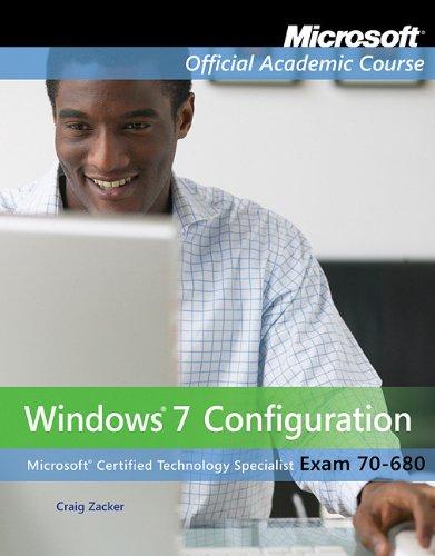 Windows 7 Configuration Exam 70-680  2011 edition cover