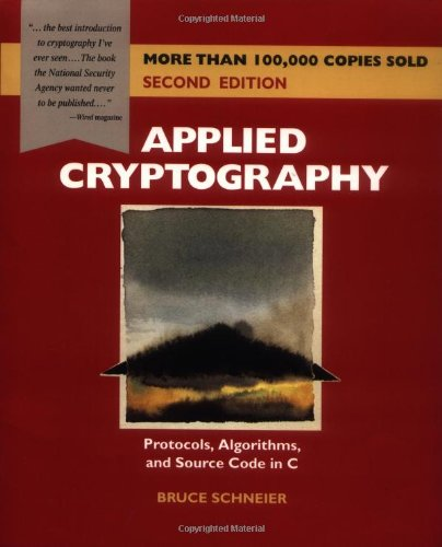 Applied Cryptography Protocols, Algorithms, and Source Code in C 2nd 1995 edition cover