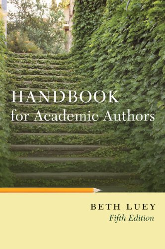 Handbook for Academic Authors  5th 2009 (Revised) edition cover