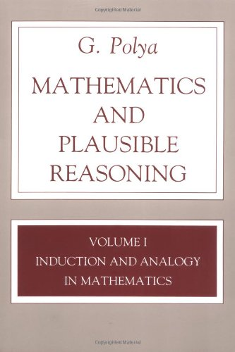 Mathematics and Plausible Reasoning Induction and Analogy in Mathematics  1954 edition cover