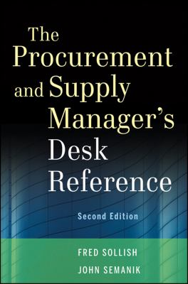 Procurement and Supply Manager's Desk Reference  2nd 2012 edition cover