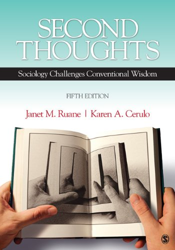 Second Thoughts Sociology Challenges Conventional Wisdom 5th 2012 edition cover
