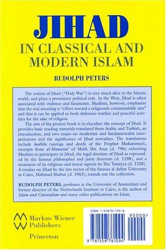 Jihad in Classical and Modern Islam  N/A edition cover