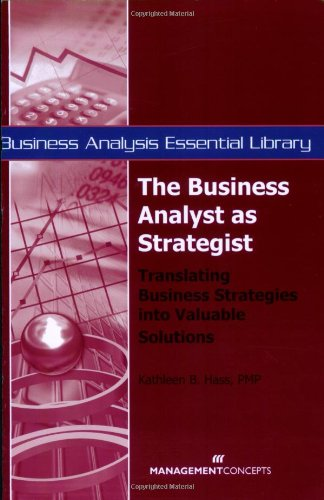 Business Analyst As Strategist  2008 edition cover
