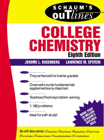 Schaum's Outline of College Chemistry  8th 1997 (Revised) 9780070537095 Front Cover