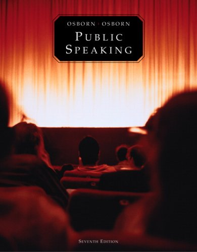 Public Speaking  7th 2006 edition cover