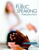 Public Speaking Finding Your Voice 10th 2015 9780205931095 Front Cover
