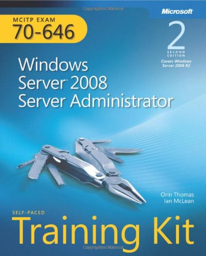 Windows Server 2008 Server Administrator Exam 70-646 2nd 2012 edition cover