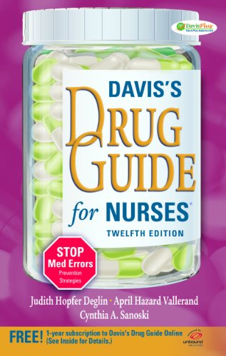 Davis's Drug Guide for Nurses  12th (Revised) edition cover