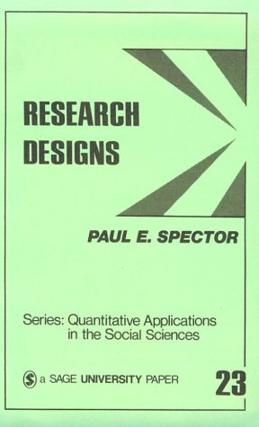 Research Designs   1981 edition cover
