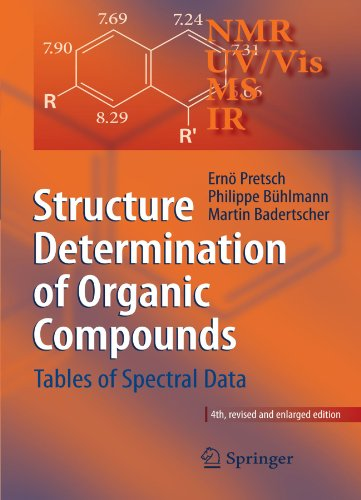 Structure Determination of Organic Compounds Tables of Spectral Data 4th 2009 edition cover