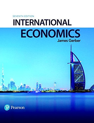 International Economics:   2017 9780134472096 Front Cover
