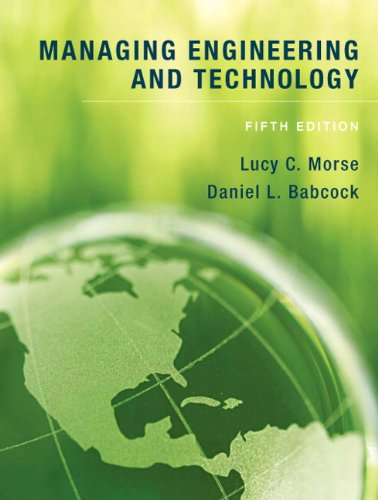 Managing Engineering and Technology  5th 2010 edition cover