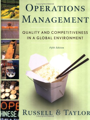 Operations Management Quality and Competitiveness in a Global Environment 5th 2006 (Revised) 9780471692096 Front Cover