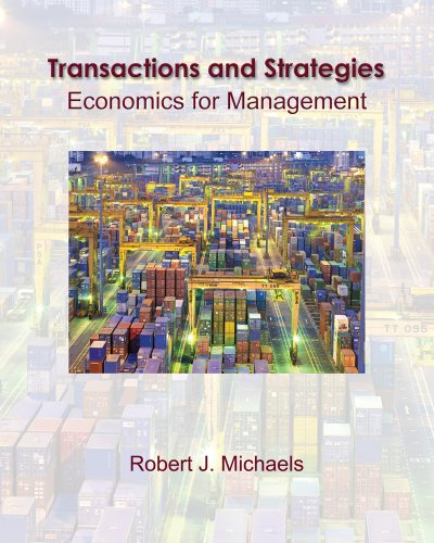 Transitions and Strategy Economics for Management  2011 edition cover