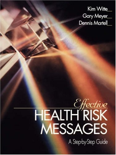 Effective Health Risk Messages A Step-by-Step Guide  2001 edition cover