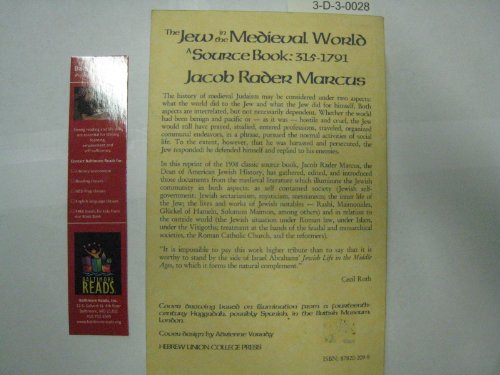 Jew in the Medieval World : A Source Book, 315-1791 1st (Reprint) edition cover