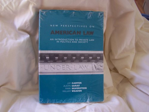 New Perspectives on American Law An Introduction to Private Law in Politics and Society N/A edition cover