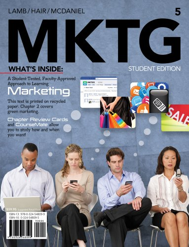 MKTG  5th 2012 (Student Manual, Study Guide, etc.) edition cover