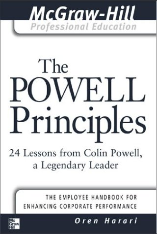 Powell Principles 24 Lessons from Colin Powell, a Lengendary Leader  2003 edition cover