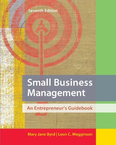 Small Business Management An Entrepreneur's Guidebook 7th 2013 edition cover