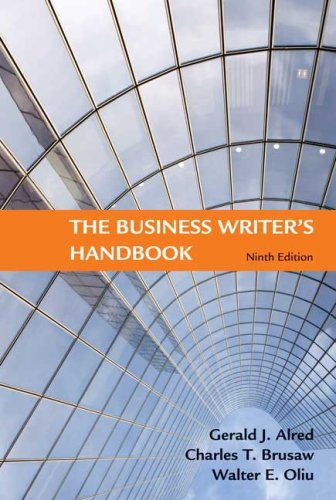 Business Writer's Handbook  9th 2009 edition cover