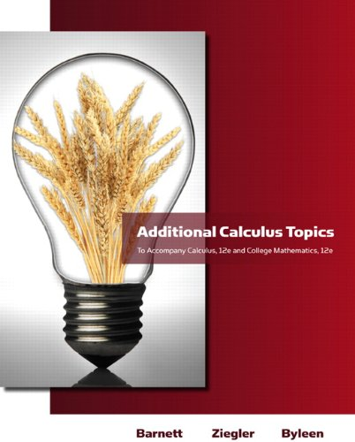 Additional Calculus Topics for Calculus for Business, Economics, Life Sciences and Social Sciences  12th 2011 edition cover