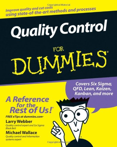 Quality Control for Dummies   2007 edition cover